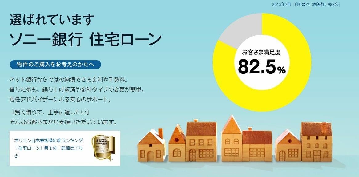 ソニー銀行の住宅ローンのお客さま満足度
