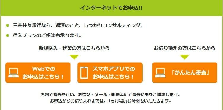 三井住友銀行の住宅ローンはインターネットで申し込みが可能