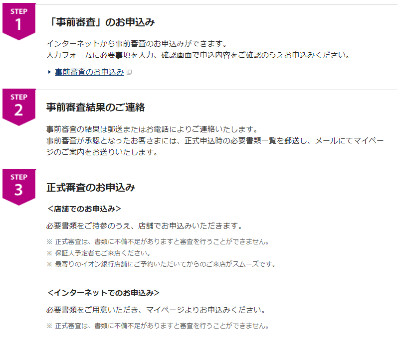 イオン銀行の住宅ローンの審査期間(事前審査~正式審査申込)