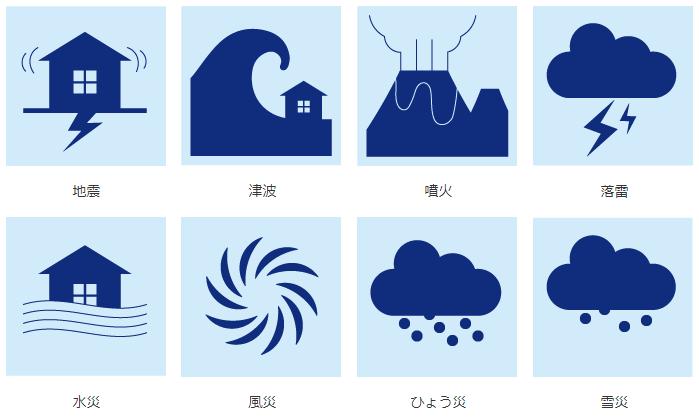みずほ銀行の自然災害支援ローン・約定返済プランの対象となる自然災害の種類