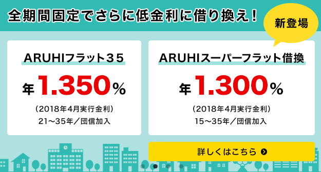ARUHIスーパーフラット借換(2018年4月)