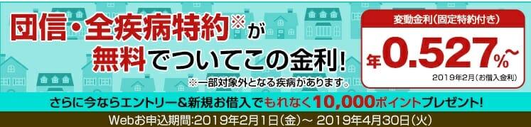 楽天銀行の住宅ローンを新規借り入れキャンペーン